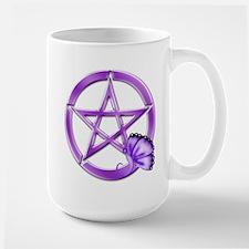 Purple Pentacle - Butterfly 3 Mugs