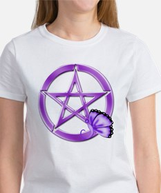 Purple Pentacle - Butterfly 3 T-Shirt