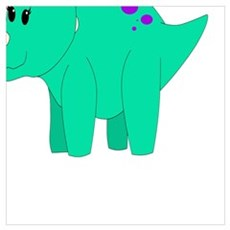 Tilly Triceratops Poster