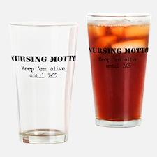 Nursing Motto Drinking Glass