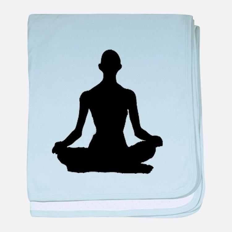 Yoga Buddhism meditation Pose baby blanket