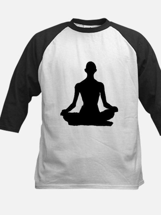 Yoga Buddhism meditation Pose Baseball Jersey