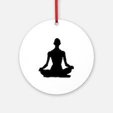 Yoga Buddhism meditation Pose Ornament (Round)