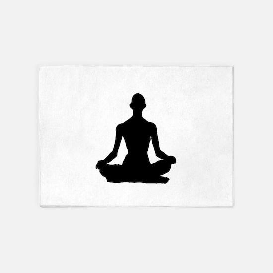 Yoga Buddhism meditation Pose 5'x7'Area Rug