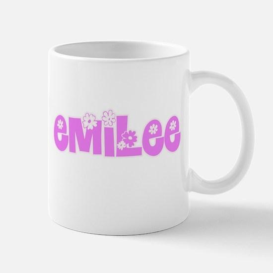 Emilee Flower Design Mugs