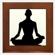 Yoga Buddhism meditation Pose Framed Tile
