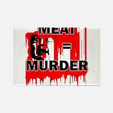 Meat is Murder Vegan Vegetarenian Politic Magnets