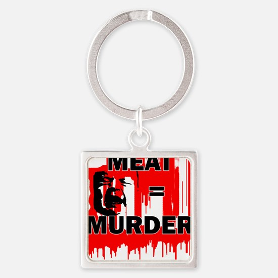 Meat is Murder Vegan Vegetarenian Politi Keychains