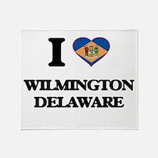 I love Wilmington Delaware Throw Blanket