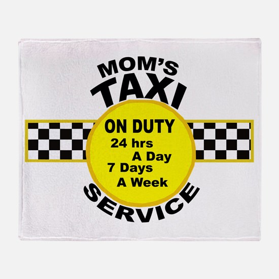 Mom's Taxi Service Throw Blanket