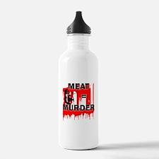 Meat is Murder Vegan V Water Bottle