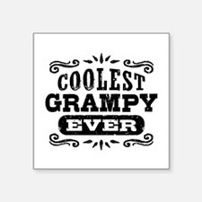 "Coolest Grampy Ever Square Sticker 3"" x 3"""