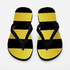 BLACK AND GOLD Horizontal Stripes Flip Flops