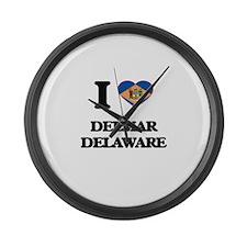 I love Delmar Delaware Large Wall Clock