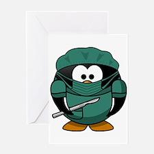 Surgeon Penguin Greeting Cards
