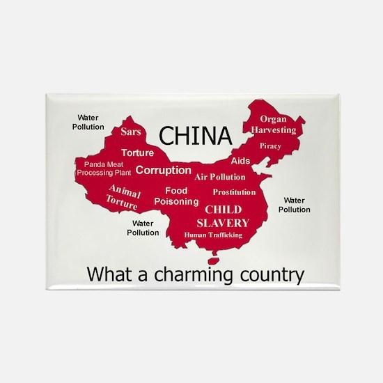 China, no ordinary polluter Rectangle Magnet