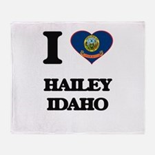 I love Hailey Idaho Throw Blanket