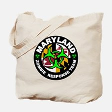 Maryland Zombie Response Team Green Tote Bag
