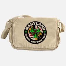 Maryland Zombie Response Team Green Messenger Bag
