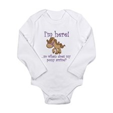 Cool Horses Long Sleeve Infant Bodysuit