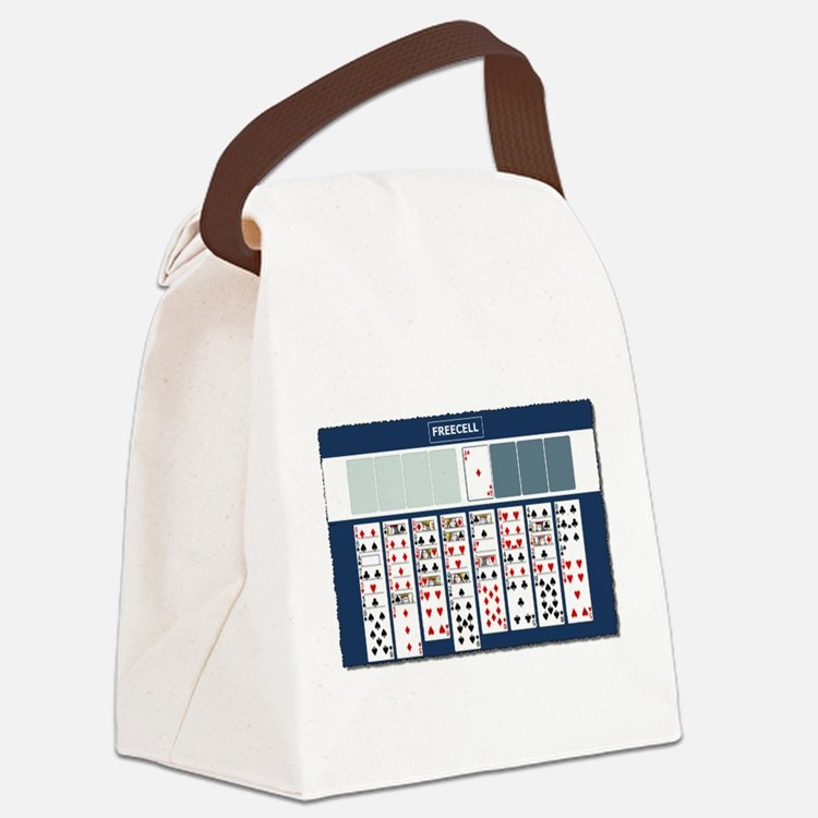 Freecell Solitaire Canvas Lunch Bag