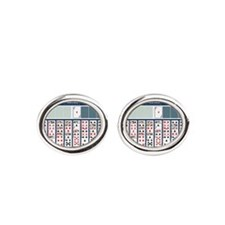Freecell Solitaire Oval Cufflinks
