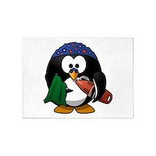 Swimmer Penguin 5'x7'Area Rug