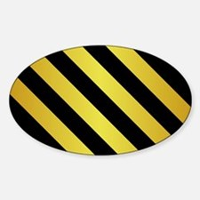 BLACK AND GOLD Diagonal Stripes Decal