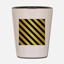 BLACK AND GOLD Diagonal Stripes Shot Glass