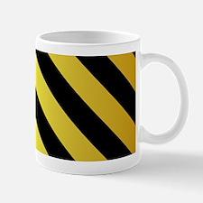 BLACK AND GOLD Diagonal Stripes Mugs