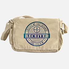 Received First Communion Blue Messenger Bag