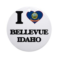 I love Bellevue Idaho Ornament (Round)