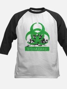 BioHazard Sign and Skulls Baseball Jersey