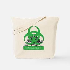 BioHazard Sign and Skulls Tote Bag