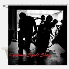Cyclemos Shower Curtain