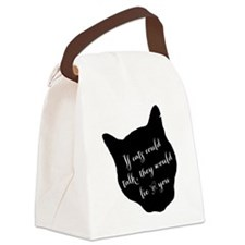ifcatscouldtalk Canvas Lunch Bag