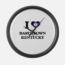 I love Bardstown Kentucky Large Wall Clock