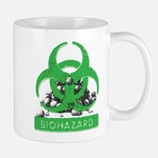 BioHazard Sign and Skulls Mugs