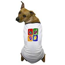 Four Dreidels Dog T-Shirt