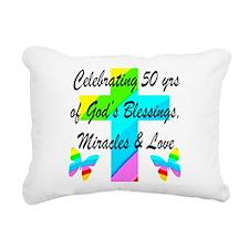 GOD LOVING 50TH Rectangular Canvas Pillow