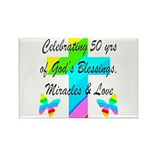 GOD LOVING 50TH Rectangle Magnet