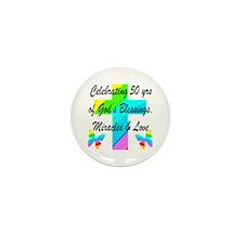 GOD LOVING 50TH Mini Button (10 pack)