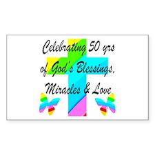 GOD LOVING 50TH Decal