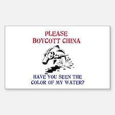 Boycott China Rectangle Decal