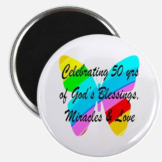 GOD LOVING 50TH Magnet