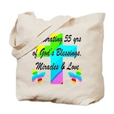 BLESSED 55 YR OLD Tote Bag