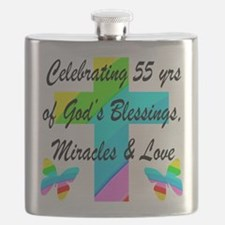 BLESSED 55 YR OLD Flask