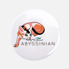 Abyssinian cat Button