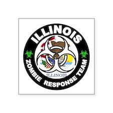 Illinois Zombie Response Team White Sticker