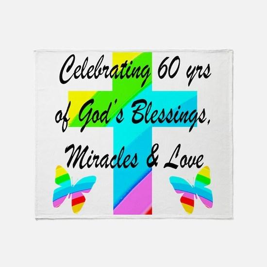 60 YR OLD PRAYER Throw Blanket
